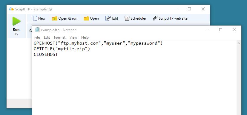 Editing a FTP script